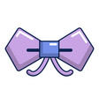bow tie hipster icon cartoon style vector image