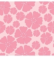 Cherry blossom seamless pattern background vector image
