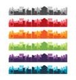 cities silhouette landscape color set vector image