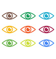 Icon of eye Colorful set vector image