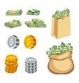 Money symbols icons vector image