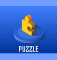 puzzle icon symbol vector image