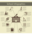 School Infographics vector image
