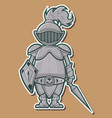 04 Cute Knight Design vector image