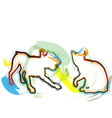Abstract Cat and dog vector image vector image