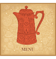 Pattern menu for cafe vector image vector image