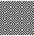 Seamless greek fret key pattern in black and white vector image