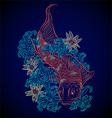 japanese fish koi vector image