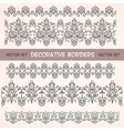 Decorative lace floral seamless borders vector image vector image