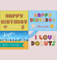 happy birthday inscription by unusual font vector image