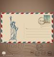 Vintage envelope designs with postage stamp vector image vector image