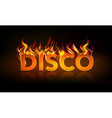 disco fire vector image vector image