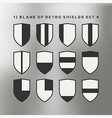 Set of shields black and white vector image