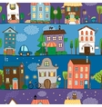 Several colorful and cute house designs vector image