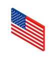 USA flag isometric 3d icon vector image vector image