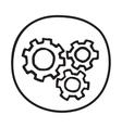 Doodle Gears icon vector image