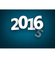 Changing 2016 year vector image