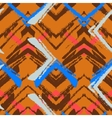 Hand drawn pattern with brushed zigzag line vector image