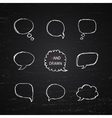 Hand Drawn speech bubbles vector image