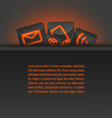 icons in a pocket document template orange vector image