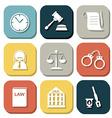 law judge icon set justice sign vector image