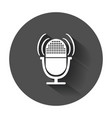 microphone icon flat with long shadow vector image
