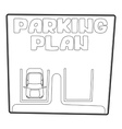 Parking plan icon isometric 3d style vector image