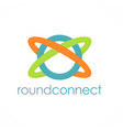round connect logo vector image