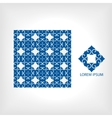 seamless pattern of blue and geometric vector image