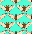 Sketch bat in vintage style vector image