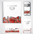 Template branded products with fruit design vector image