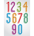 Thin elegant bright animated rounded numbers with vector image