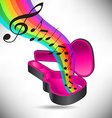 Guitar Case Rainbow notes vector image