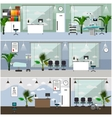 Horizontal banners with hospital interiors vector image