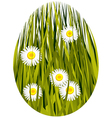 Easter spring egg vector image