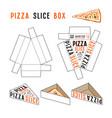 stock design of box for pizza slice vector image