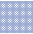Tile white polka dots on blue background pattern vector image