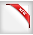 new red corner ribbon vector image