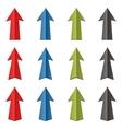 set of color arrows vector image vector image