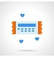 Love ticket flat color icon vector image