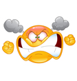Furious emoticon vector image