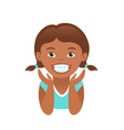 Children braces happy african american girl vector image