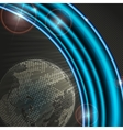 Abstract Background With Planet vector image
