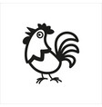 cock icon in simple monochrome style vector image