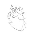 fantasy unicorn horned and crown fantasy vector image