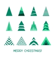 Merry Christmas Tree Collection vector image