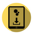 phone icon with settings symbol flat vector image
