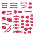 Ribbons and badges set vector image