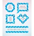 Set of spiral ribbon frames vector image