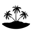 Three palms island vector image